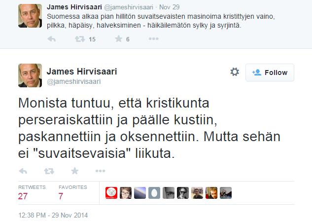 James Hirvisaari ei voi ajatella kuin yhtä asiaa.