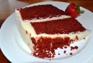 Muhkea red velvet kakku, Make my cake-leipomon taidonnäyte